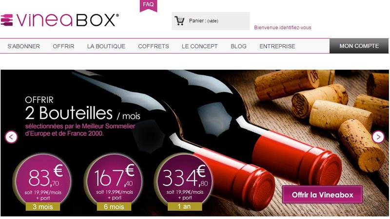 Vineabox Winetech abonnement box de bouteilles de vin