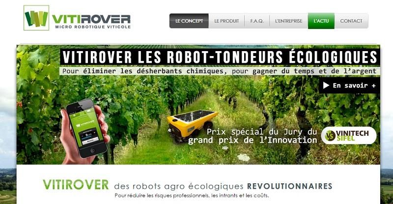 Vitirover robot viticol tondeuse