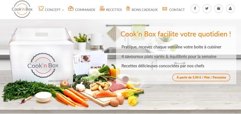 cook'n box panier recette foodtech livraison