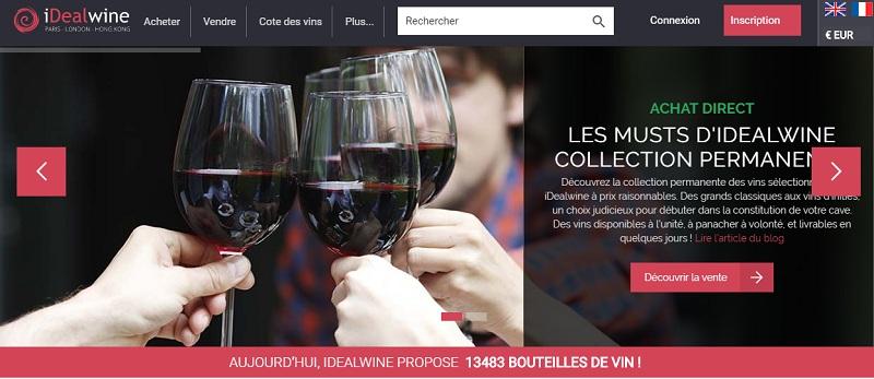 idealwine achat vente vin winetech
